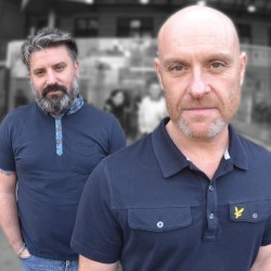 Messrs Brimson and Wilson in Lofty Expectations. Image shows from L to R: Rich Wilson, Eddy Brimson.