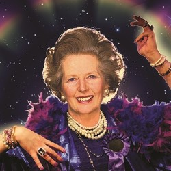 Margaret Thatcher Queen of Soho.