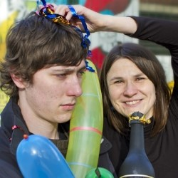 Ollie and Susie's New Year's Shindig. Image shows from L to R: Ollie Moore, Susie Steed.