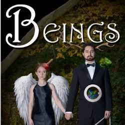 BEINGS. Image shows from L to R: Susan Harrison, Andrew Gentilli.