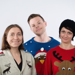 I Wish It Could Be Christmas Everyday.... Image shows from L to R: Kit Murdock, Aaron Twitchen, Claire Corfield.