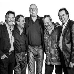 Monty Python Live (Mostly): One Down Five to Go. Image shows from L to R: Michael Palin, Terry Jones, John Cleese, Terry Gilliam, Eric Idle.