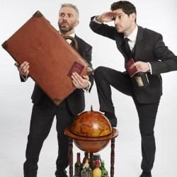 The Thinking Drinkers: Around the World in 80 Drinks. Image shows from L to R: Ben McFarland, Tom Sandham.