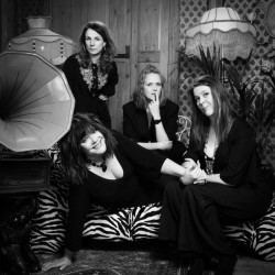 The Glenda J Collective. Image shows from L to R: Josie Lawrence, Cariad Lloyd, Pippa Evans, Ruth Bratt.