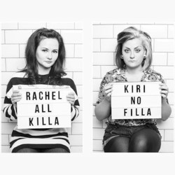 All Killa No Filla Live. Image shows from L to R: Rachel Fairburn, Kiri Pritchard-McLean.