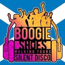Boogie Shoes Silent Disco Walking Tour With a Scottish Twist.
