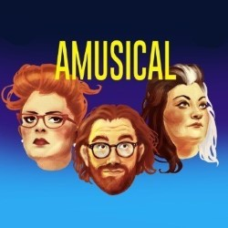 Amusical. Image shows from L to R: Jayde Adams, Dave Cribb, Kiri Pritchard-McLean.