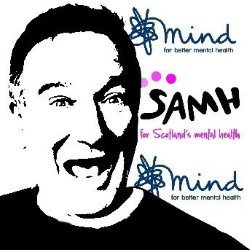For Robin Williams: A Benefit Gig in aid of Mind and SAMH. Image shows from L to R: Nish Kumar, Sofie Hagen, Rosie Jones, Laura Lexx, Tom Walker, Andrew O'Neill, Colt Cabana.