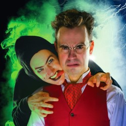 Jekyll Vs Hyde. Image shows from L to R: Lindsay Sharman, Laurence Owen.
