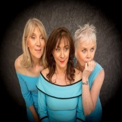 Three Menopausal Maids. Image shows from L to R: Susan Graham, Carol Parradine, Lesley-Anne Webb.