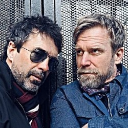 Tony Law and Phil Nichol: Virtue Chamber Echo Bravo. Image shows from L to R: Phil Nichol, Tony Law.