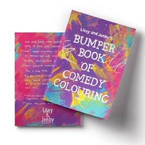 Lisey and Jenby's Bumper Book of Comedy Colouring, Vol. 1