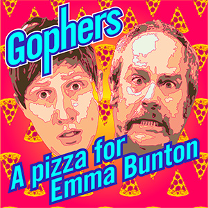 The Exploding Heads - Gophers: A Pizza for Emma Bunton. Image shows from L to R: Anthony Richardson, Mark Davison.