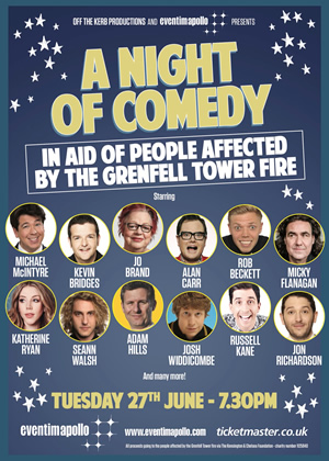 Grenfell Tower comedy benefit gig.
