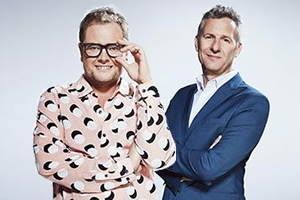 Image shows from L to R: Alan Carr, Adam Hills.