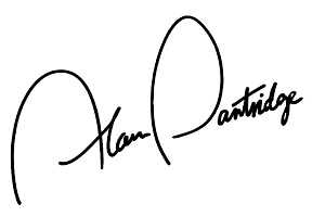Alan Partridge's signature. Copyright: Baby Cow Productions.