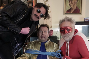 Image shows from L to R: Eddie Argos, Michael Legge, Tony Slattery.