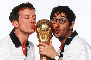 Baddiel & Skinner to sing Three Lions