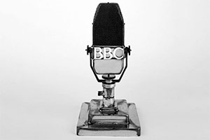 An early BBC microphone. Copyright: BBC.