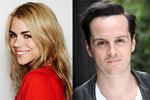 Image shows from L to R: Billie Piper, Andrew Scott.