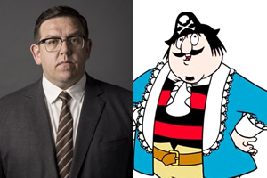 Nick Frost is Captain Pugwash