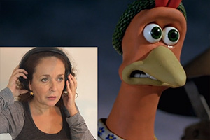 Julia Sawalha Chicken Run axe