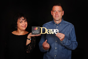 Dave's Edinburgh Comedy Awards. Image shows from L to R: Nica Burns, Luke Hales.
