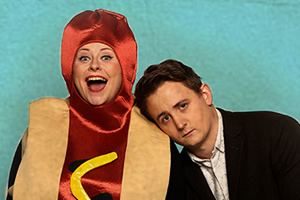 The Delightful Sausage. Image shows from L to R: Amy Gledhill, Chris Cantrill.