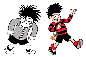 Dennis the Menace at 70. Copyright: Beano Studios.