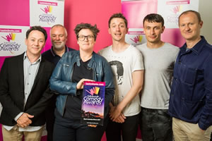 Edinburgh Comedy Awards 2017. Image shows from L to R: Reece Shearsmith, Steve Pemberton, Hannah Gadsby, John Robins, Richard Gadd, Mark Gatiss.