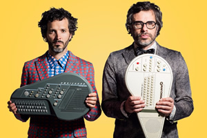 Flight Of The Conchords. Image shows from L to R: Bret McKenzie, Jemaine Clement.