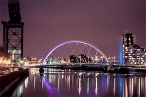 A view of the Clyde in Glasgow. Copyright: BBC.