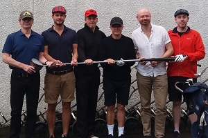 Mackenzie Taylor Memorial Golf Cup 2018. Image shows from L to R: Mick Perrin, Jimmy McGhie, Richard Bucknall, Dominic Holland, Alistair Barrie, Carl Donnelly.