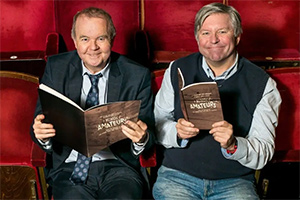 Ian Hislop and Nick Newman working on Italian opera house screenplay