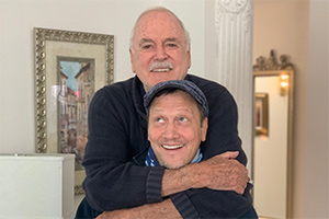 Image shows from L to R: John Cleese, Rob Schneider.