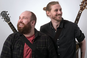 Jonny & The Baptists. Image shows from L to R: Jonny Donahoe, Paddy Gervers.