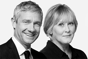 Labour Of Love, starring Martin Freeman and Sarah Lancashire. Image shows from L to R: Martin Freeman, Sarah Lancashire.