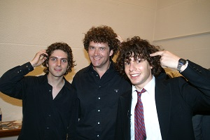 NewsRevue 2005. Image shows from L to R: Thomas Nelstrop, Pete Smith, Simon Amstell.