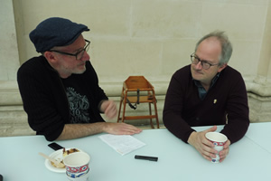 Image shows from L to R: Si Hawkins, Robin Ince. Copyright: Hazelgee.