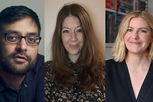 Image shows from L to R: Adnan Ahmed, Alex Moody, Katie Churchill.