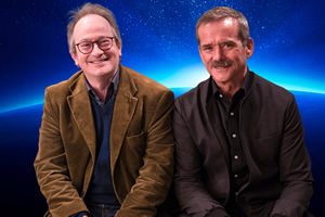 Space Shambles. Image shows from L to R: Robin Ince, Chris Hadfield.