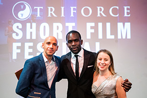 TriForce team. Image shows from L to R: Fraser Ayres, Jimmy Akingbola, Minnie Ayres.