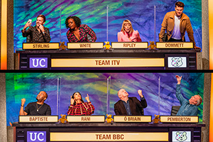 Comedians take part in University Challenge for Children In Need