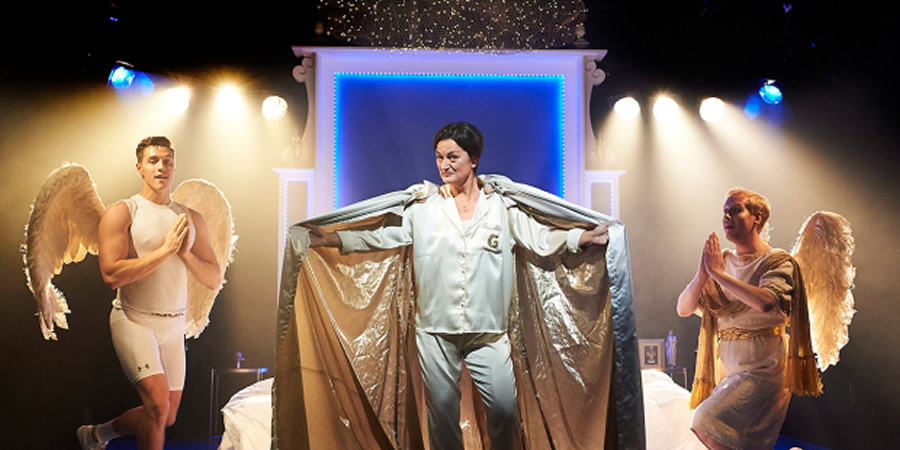 Act Of God. Image shows from L to R: Tom Bowen, Zoe Lyons, Matt Tedford.