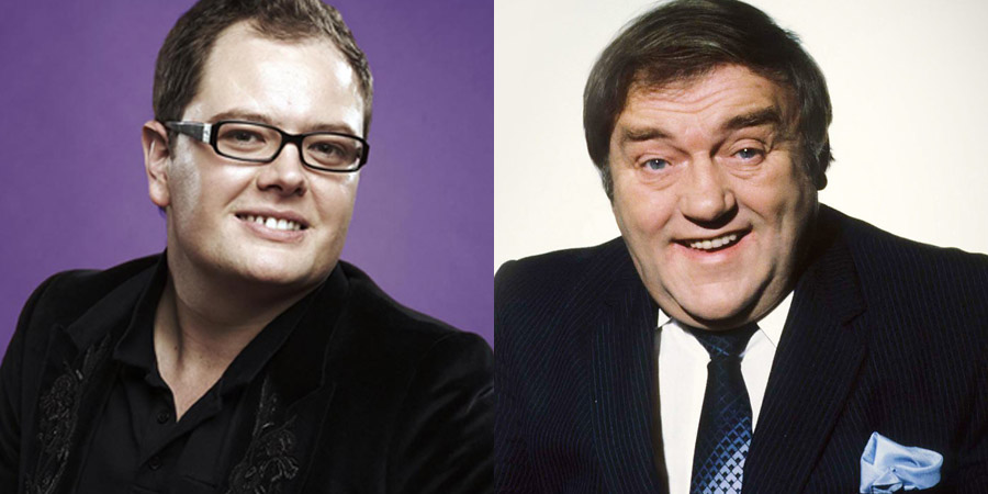 Image shows from L to R: Alan Carr, Les Dawson.