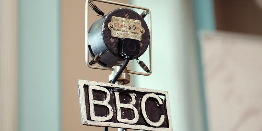 An early BBC microphone.