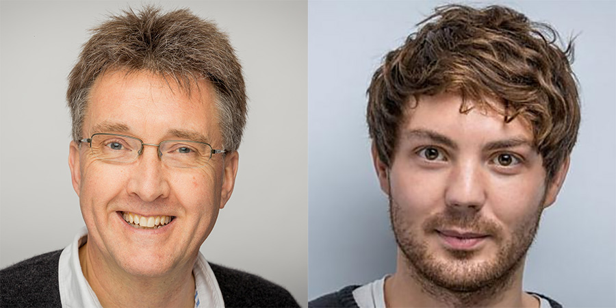 Image shows from L to R: Stephen McCrum, Simon Mayhew-Archer.