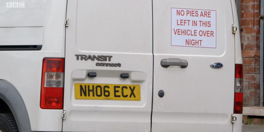 No pies are left in this vehicle overnight.