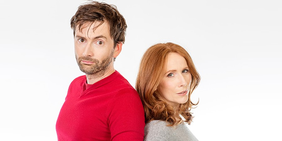 Image shows from L to R: David Tennant, Catherine Tate. Copyright: BBC.