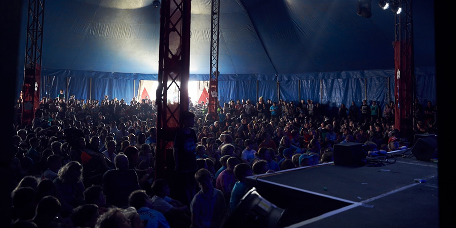 Big top tent at Deer Shed Festival. Copyright: Deer Shed Festival.